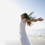 woman celebrating the sun